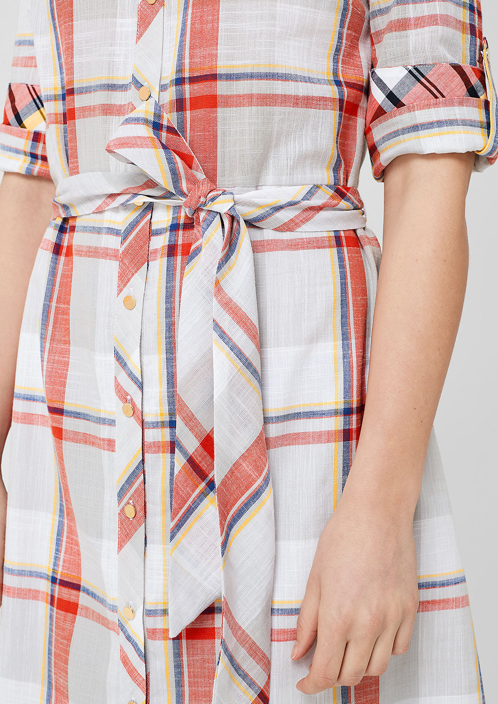 s.Oliver - Robe-chemise à carreaux - 5