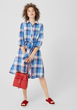 Geruite shirtdress