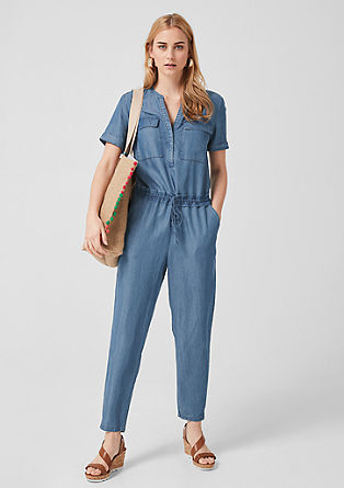 Jumpsuit aus Lyocell-Denim