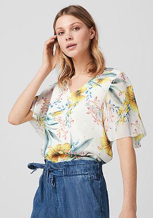 Chiffon blouse met een motiefprint