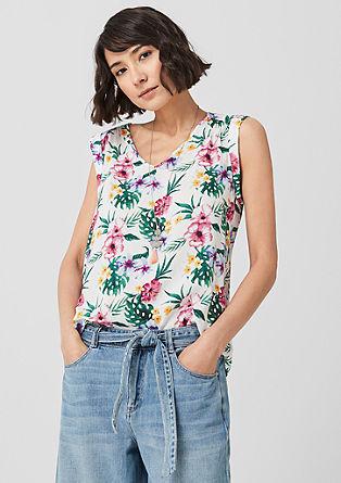 Viscose blouse met een print all-over