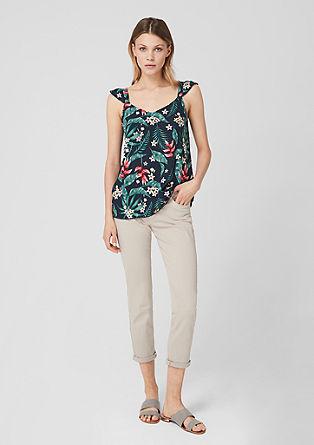 Viscose blouse met kapmouwen
