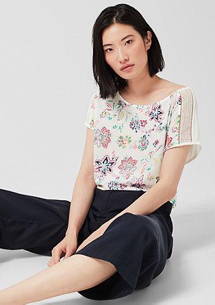 Tričko s halenkovým předním dílem