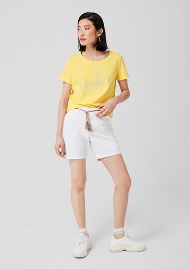 Jerseyshirt mit Glitzer-Wording