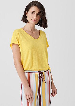 V-majica iz liocela in lana