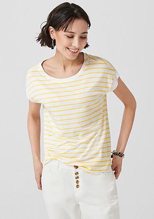 proužkované tričko s žebrovými náplety