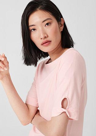 Žerzejové tričko s prostřihem