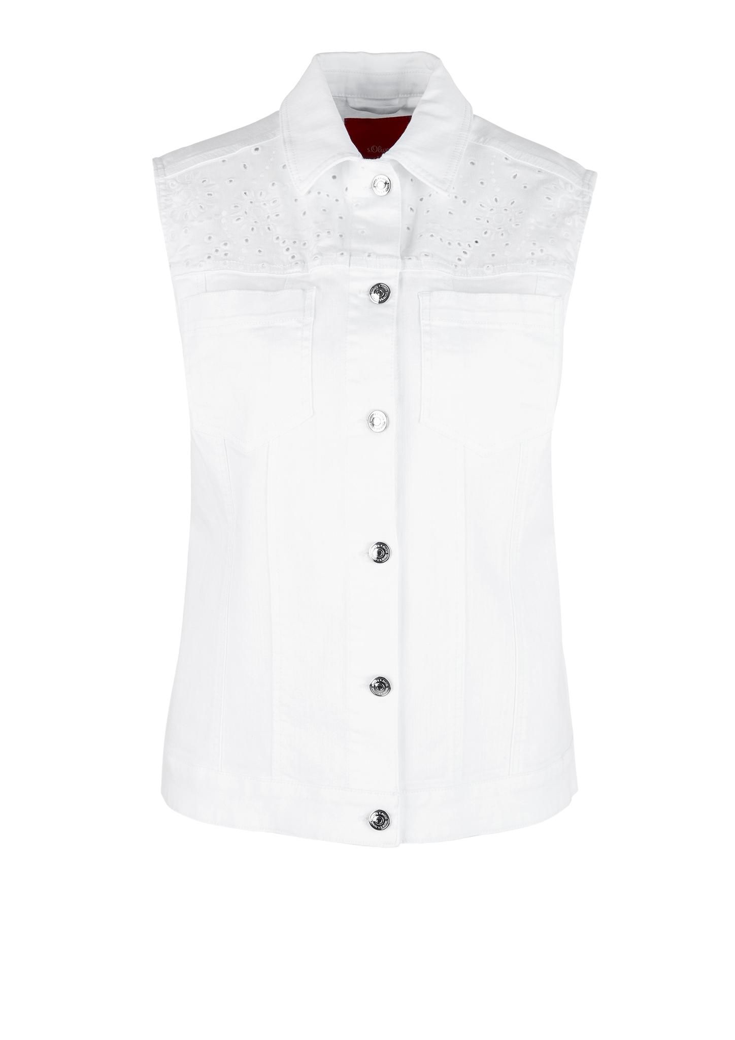 Jeansweste | Bekleidung > Westen > Jeanswesten | Weiß | 97% baumwolle -  3% elasthan | s.Oliver