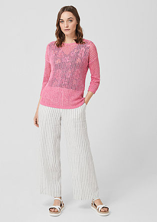 Lightweight openwork jumper from s.Oliver