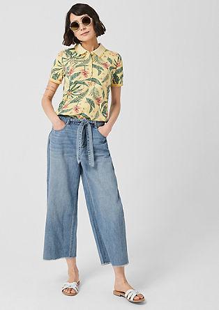 Culotte: jeans met een ceintuur