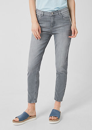 Shape Ankle: Graue Stretchjeans