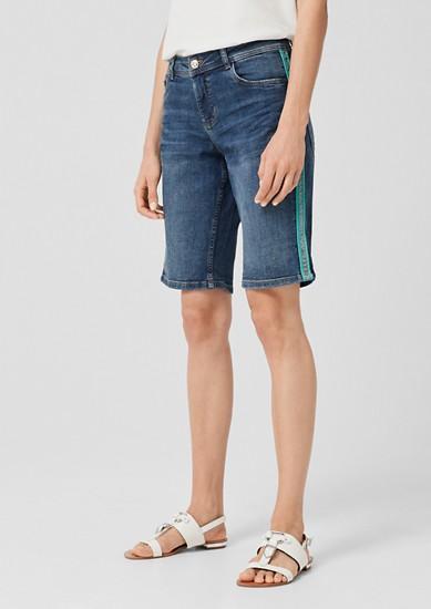 Smart Bermuda: Jeans mit Galonstreifen