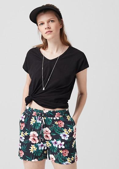Leichte Web-Shorts aus Viskose