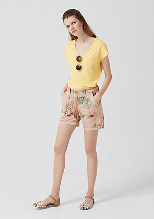 Smart short: broek met gevlochten riem