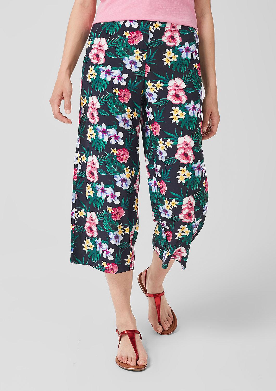 s.Oliver - Culotte: Leichte Hose mit Print - 5