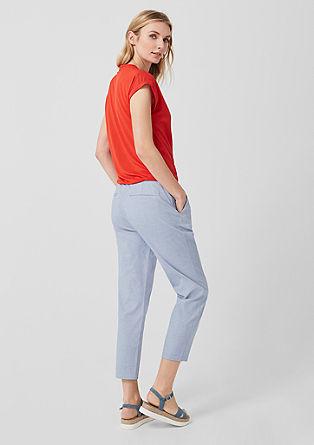 Smart Chino: 7/8 kalhoty se záhyby v pase