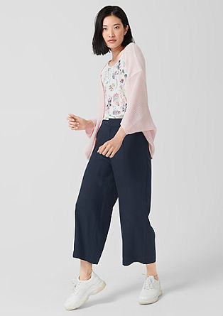 Culottes: Textured lyocell trousers from s.Oliver