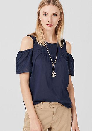 Cold Shoulder-Bluse aus Baumwolle