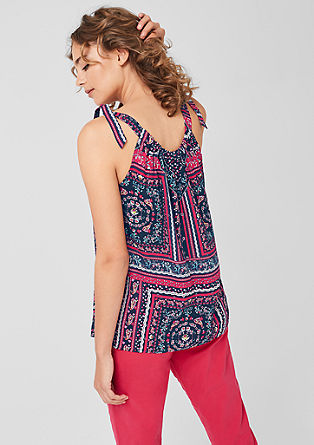 Blouse top with a paisley pattern from s.Oliver