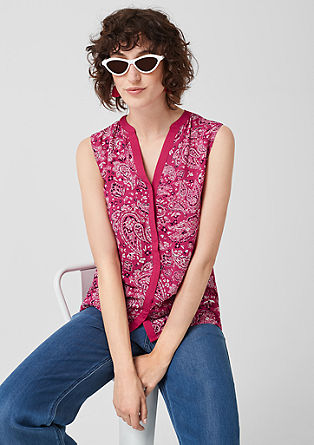 Viscose blouse with an all-over print from s.Oliver