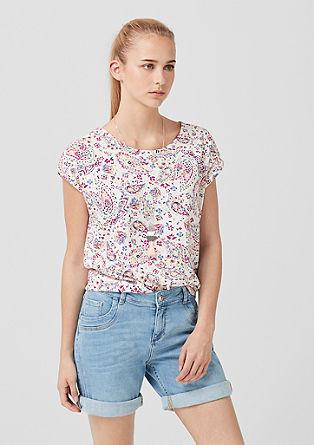 Jerseyshirt mit Rückenausschnitt
