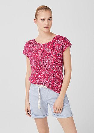 Majica iz džersija z izrezom na hrbtu