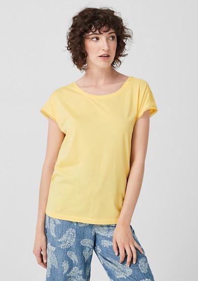 T-shirt en jersey animé de dentelle crochetée de s.Oliver