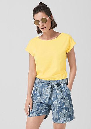 Jerseyshirt mit Bändchen-Detail