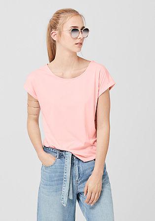 Jersey shirt met een bandje als detail