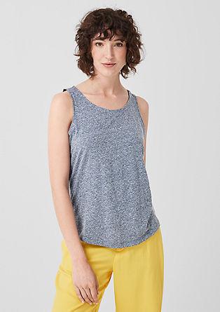 Jersey top in een gemêleerde look