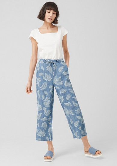 Culottes: Blended linen trousers from s.Oliver