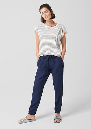 Smart Chino: Linen tracksuit bottoms from s.Oliver
