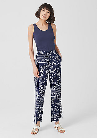 Marlene trousers with a paisley pattern from s.Oliver