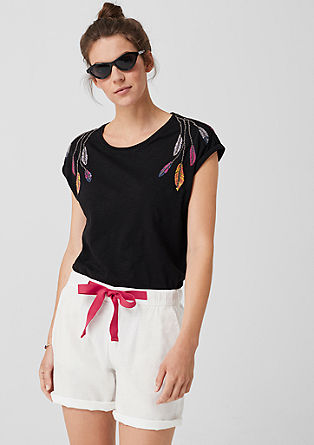 Smart Short: krátké kalhoty ze směsi se lnem