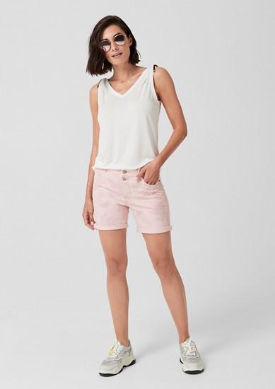 Smart Short: jean animé d'un motif cachemire de s.Oliver
