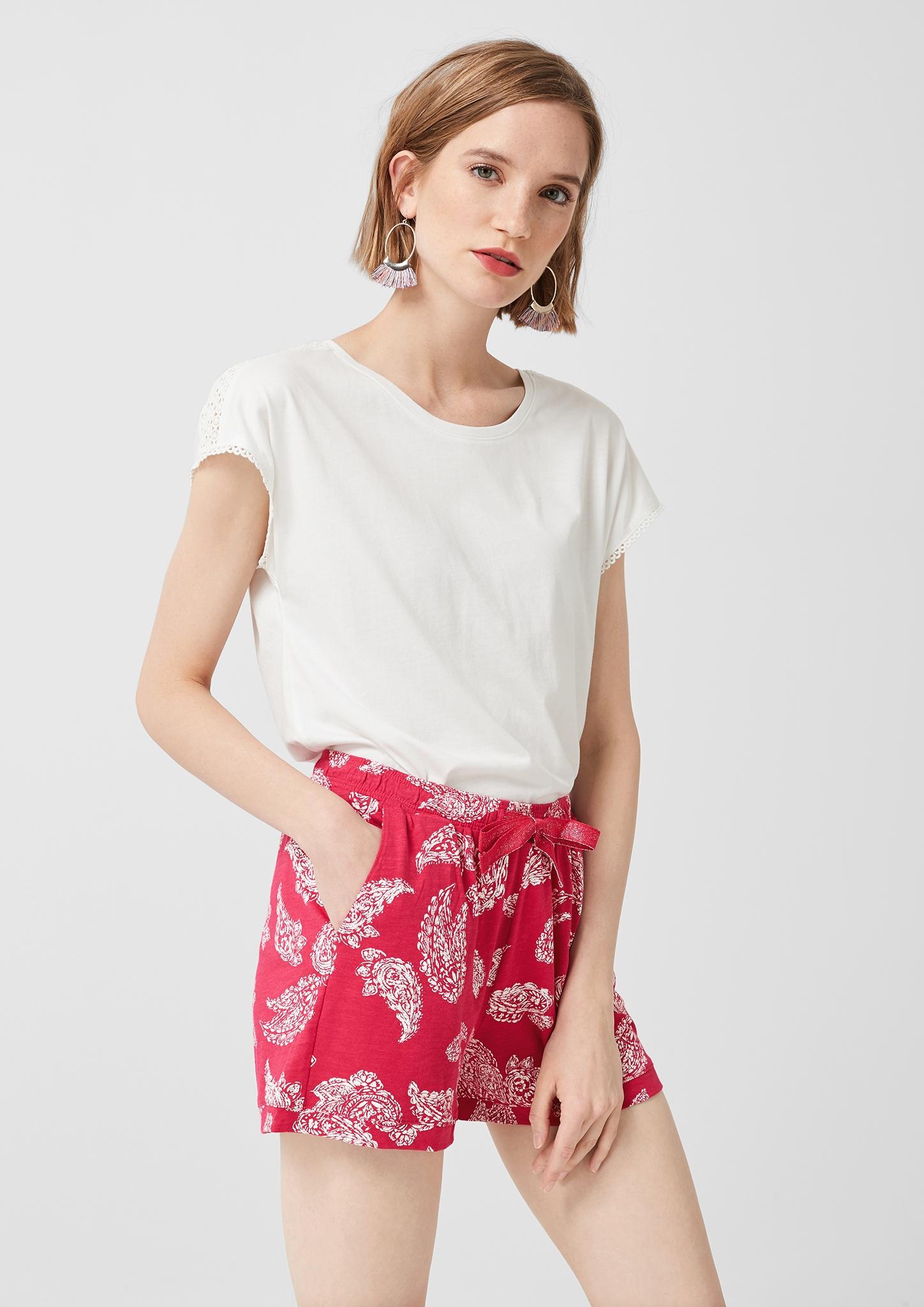 s-Oliver-Casual-Women-Jerseyshorts-mit-Musterprint-Neu Indexbild 19