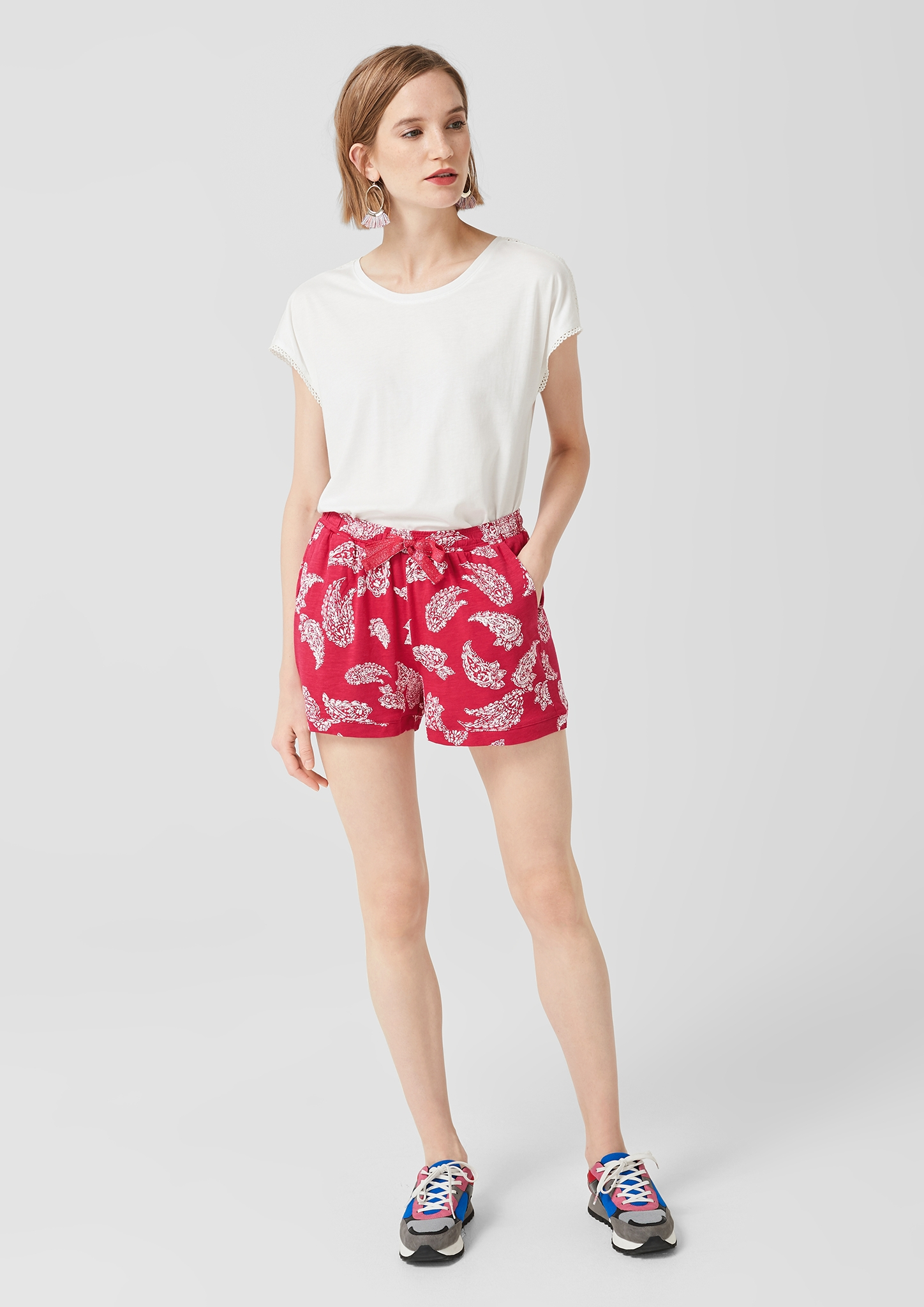 s-Oliver-Casual-Women-Jerseyshorts-mit-Musterprint-Neu Indexbild 18