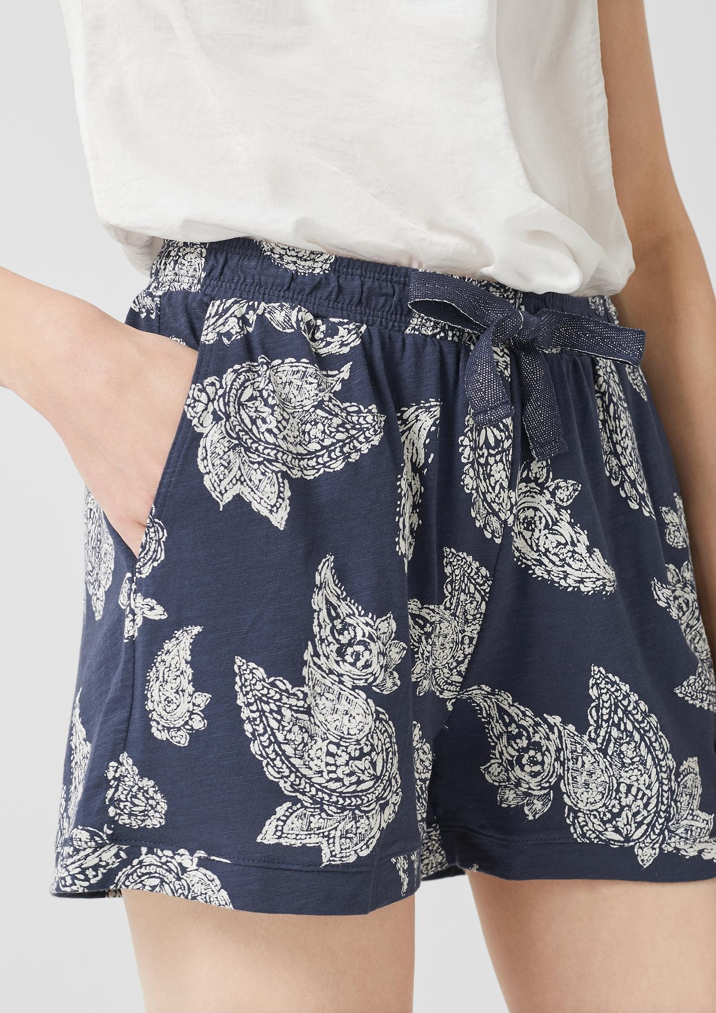 s-Oliver-Casual-Women-Jerseyshorts-mit-Musterprint-Neu Indexbild 6