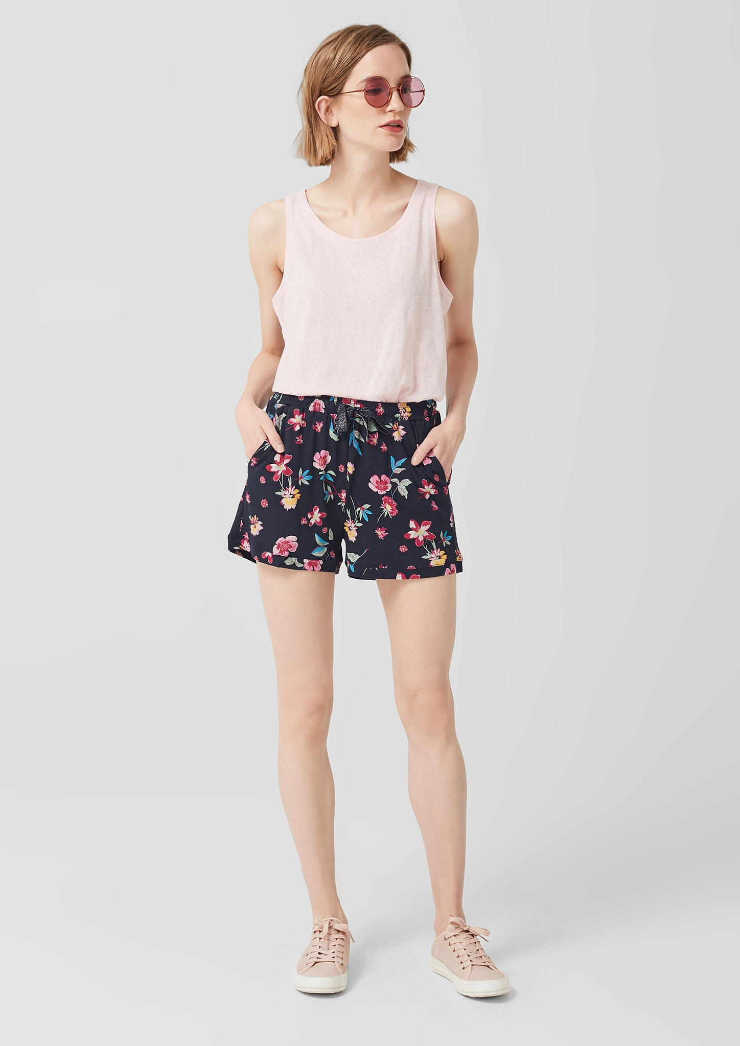 s-Oliver-Casual-Women-Jerseyshorts-mit-Musterprint-Neu Indexbild 14