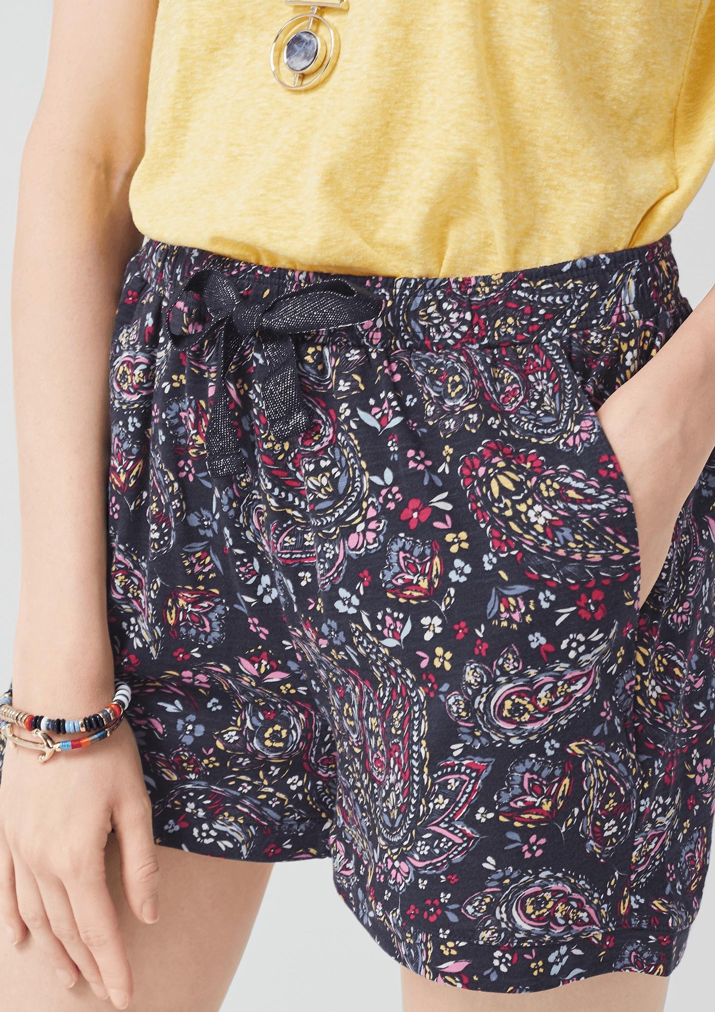 s-Oliver-Casual-Women-Jerseyshorts-mit-Musterprint-Neu Indexbild 11