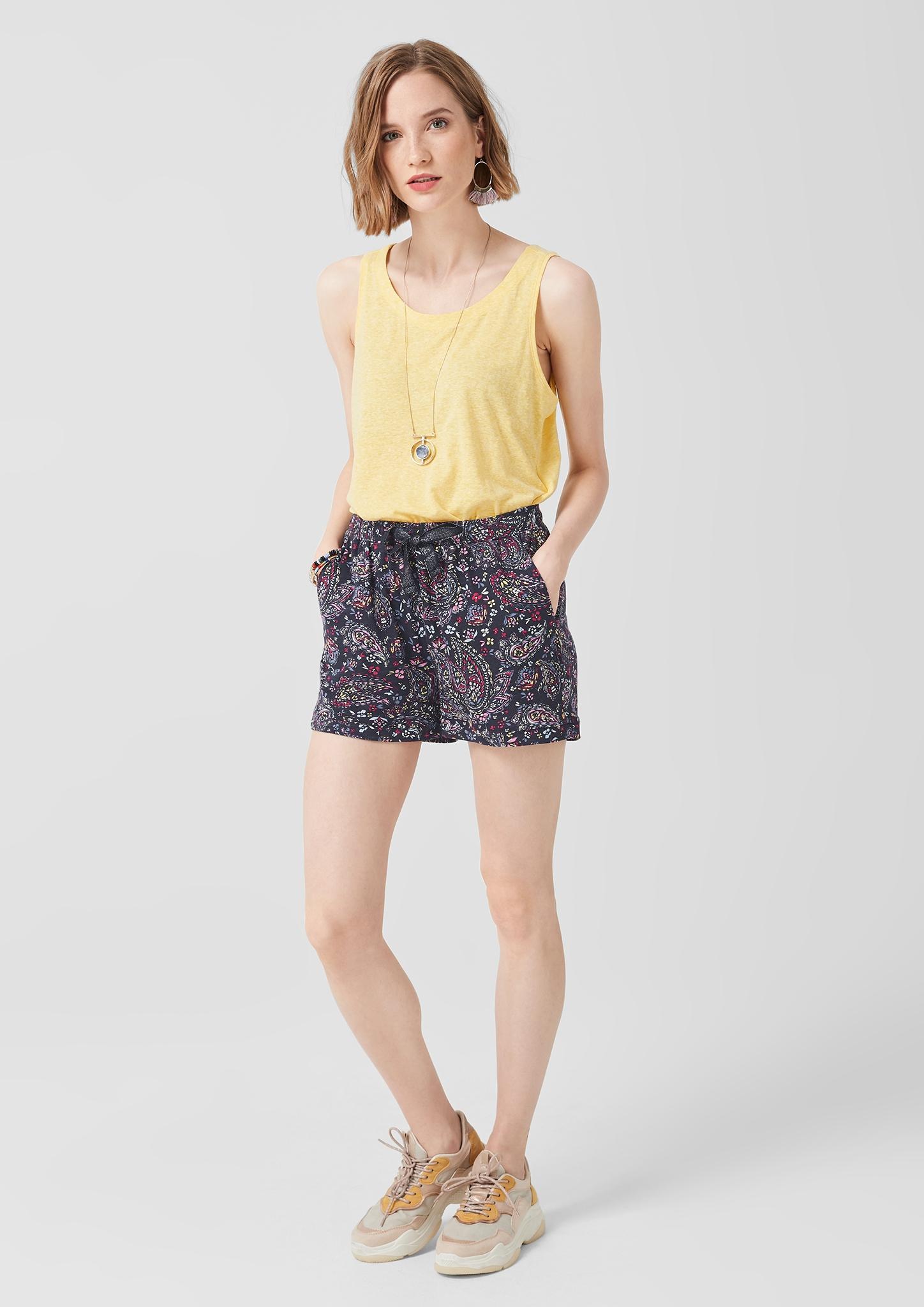 s-Oliver-Casual-Women-Jerseyshorts-mit-Musterprint-Neu Indexbild 8