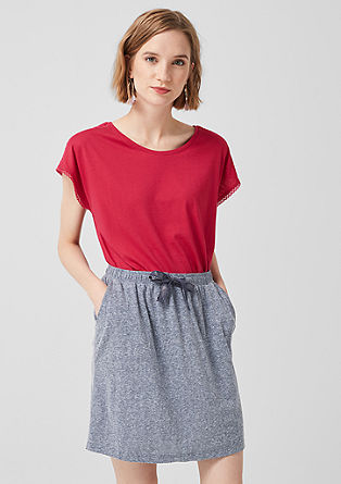 Jersey skirt in a melange finish from s.Oliver
