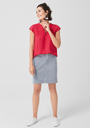 Striped twill skirt from s.Oliver