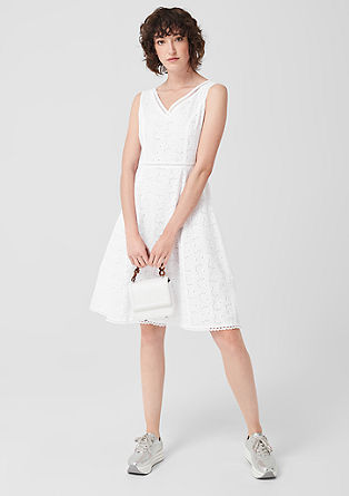 Cotton dress with a delicate openwork pattern from s.Oliver