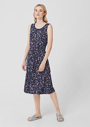 Ärmelloses Kleid aus Viskose-Jersey
