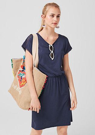 Jersey jurk met kant