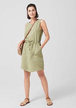 Lahka midi obleka iz lana