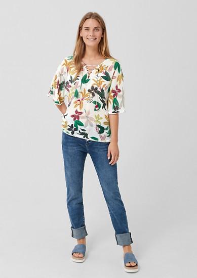 Chiffon-Bluse mit sommerlichem Print