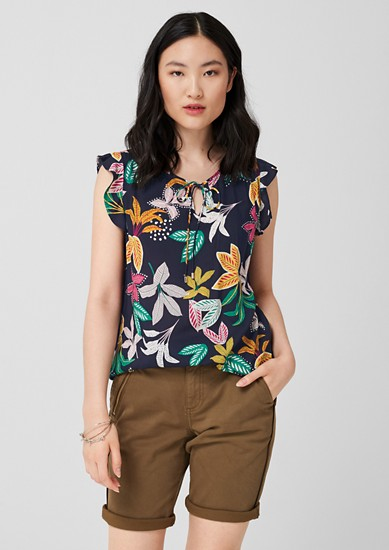 Pretty blouse top with a print from s.Oliver