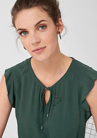 Mouwloze blouse met de structuur van dobby